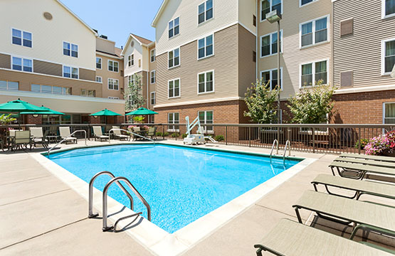 Our Heated Outdoor Pool Is Great For Relaxing After A Long Day Kitchen With Grills At Homewood Suites Reading Pa Hotels