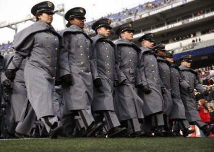 West Point Graduates march towards their seats