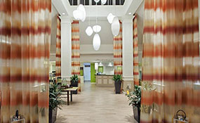 Elegant Newly Renovated Lobby At The Hilton Garden Inn Wilkes Barre PA