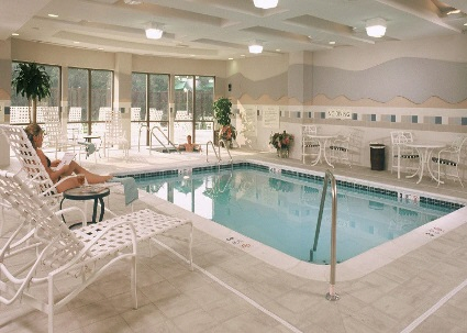 Relax at the Courtyard Marriott's Indoor Swimming Pool any time of the year