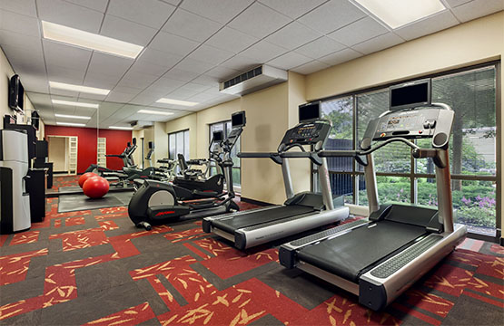 New Fitness Center at Hotel in Lancaster PA Courtyard by Marriott