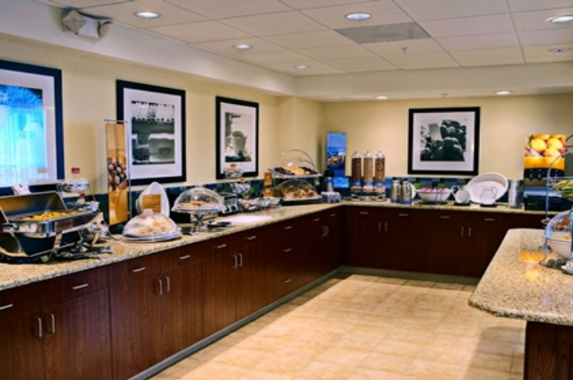 The amazing breakfast buffet has both hot and cold items to get you the energy you need for the day.
