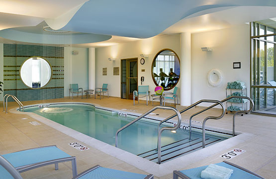 Spa like indoor pool at Ewing Springhill Suites Hotel NJ