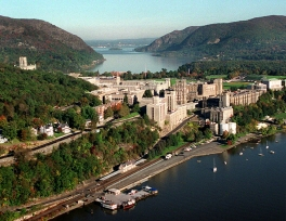 West Point is a United States federal military reservation established by Thomas Jefferson in ... It is a census-designated place located in the Town of Highlands in Orange County, New York, located on the western bank of the Hudson River.
