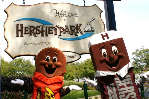 Welcome to Hersheypark Sign at Hersheypark in Hershey PA