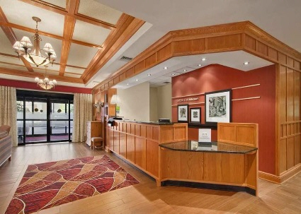 Rustic and Modern Colonial Lobby and Reception Desk