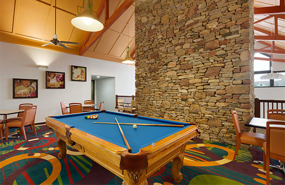 Homewood Suites Hotels Mechanicsburg PA Pool Table at Extended Stay Hotel