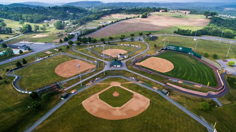 Aerial Shot of the Big Vision Sporting Complex's Baseball Fields
