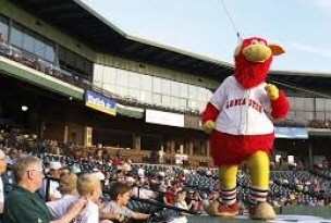 The Lancaster Barnstormers' official mascot is an anthropomorphic, red cow named Cylo. He wears the team's home jersey with striped socks and retro-style sneakers. Cylo debuted on March 4, 2005 at the Mascot Roller Mill in the Lancaster County village of Mascot. His name in full is Cyloicious L. Barnstormer, alluding to Hall of Fame pitcher Cy Young and to the silo, representing the county's agricultural heritage.[50] The mascot was designed by the Raymond Entertainment Group, which also produces the Phillie Phanatic's costume.