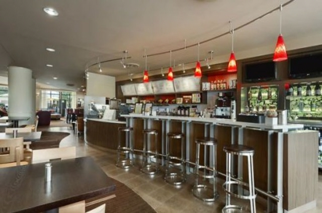 Energize at the Courtyard Marriott's very own Starbucks, Minibar, Cafe and Bistro