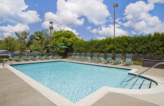 Outdoor Pool at Hampton Inn Middletown NY Hotels