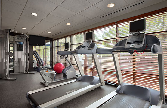 Homewood Suites Updated Fitness Center has everything you need from freestyle weights, to treadmills