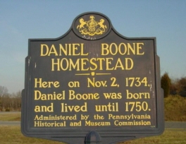 The Daniel Boone Homestead, the birthplace of American frontiersman Daniel Boone, is a museum that is administered by the Pennsylvania Historical and Museum Commission near Birdsboro, Berks County, Pennsylvania in the United States.