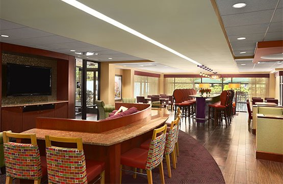 Homewood Suites' modernized Hotel Breakfast Area