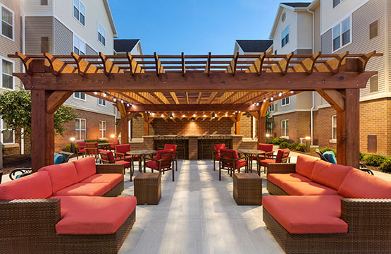 Outdoor Kitchen with Grills at Homewood Suites Reading Pa Hotels