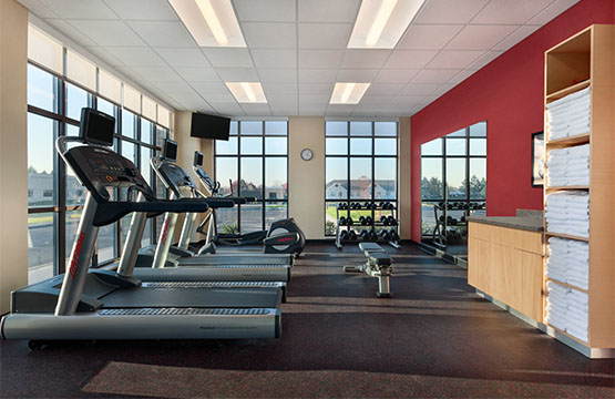 New Fitness Center at Hershey PA TownePlace Suites Hotel
