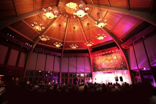 The Bethel Woods Center for the Arts is a not-for-profit performing arts center and museum located at the site of the 1969 Woodstock festival in Bethel, New York, which took place on a parcel of the original Max Yasgur's Dairy Farm.