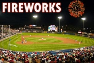 Fireworks at Big Vision Baseball Tournament in Reading PA